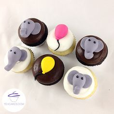 Birthday YehCakes - Elephant, Balloon Cupcakes
