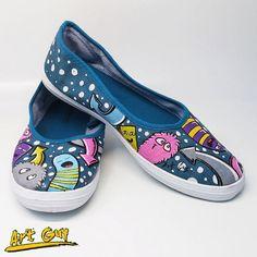 13c6c230cddd Items similar to slipon handpainted Custom shoes one of a kind cute  monsters girl s women s fabric canvas EU38   US Women7.5 EU40   US Women9  on Etsy