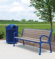 Restored outdoor bench seat