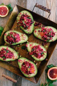 Salade de betteraves et quinoa sur avocats   K pour Katrine