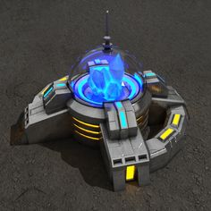 Crystal powerplant sci-fi building   Architecture  3D Models