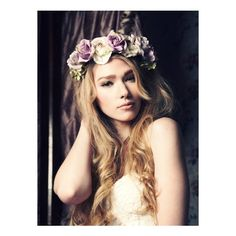 Lana Oversized Floral Crown Headband ($54) ❤ liked on Polyvore