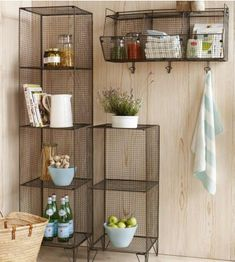 modular wire shelving.