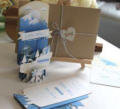pop up wedding invitation