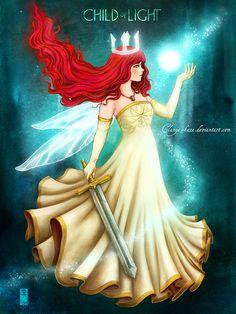 Child Of Light - Aurora by Clange-kaze on deviantART Very Lovely, How Beautiful, Character Bank, Golden Dress, Child Of Light, Princess Zelda, Disney Princess, Princess Aurora, Fan Art