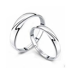 1 Pairs Men Women Silver plated Lover Couple Rings Wedding Band His and Her Promise Rings