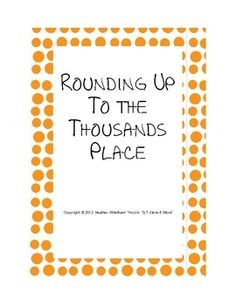 FREE worksheet to practice rounding to the thousands place - 10 problems