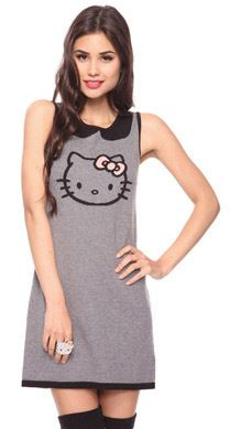 Forever21 Hello Kitty Collection Knitted Dress Gyaru Goth Punk Cyber Glam Cute | eBay