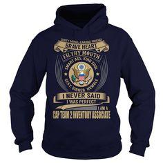 (Tshirt Best Order) CAP Team 2 Inventory Associate Job Title Free Ship Hoodies Tee Shirts
