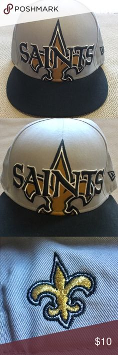 New Orleans Saints SnapBack cap. Like new New Orleans SnapBack cap. I never got around to wearing this cap and I no longer follow the saints. Make me an offer im flexible. New Era Accessories Hats