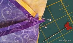 Smilie Mommy Quilts: 2012 February ~ Matching Perfect Points While Quilt Block Piecing ~ Tutorial