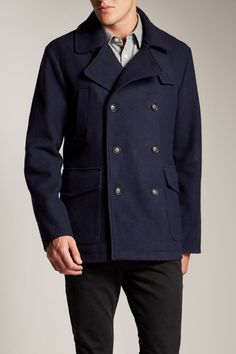 PEACOAT: Jack Wills Southfleet Wool Peacoat £229