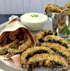 Vegan Baked Portobello Fries/ The Veggie Sisters Best Appetizers, Appetizer Recipes, Beyond Diet, Vegan Recipes, Cooking Recipes, Greens Recipe, Vegan Baking, Vegan Vegetarian, Vegan Food