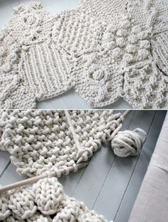 Monochromatic knitting textures