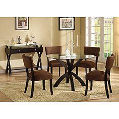 Chocolate Microfiber Dining Chairs
