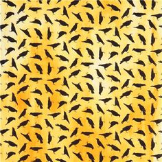 yellow raven crow Halloween fabric Stonehenge Fright Night 2