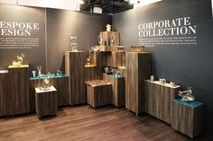Carrol Boyes promoted their range of corporate gifts for the year at Markex – the annual marketing, promotions and special events trade exhibition.We designed the exhibition space to serve as a platform to launch their bespoke range to corporate bu… Exhibition Space, Exhibition Stands, Booth Design, Corporate Gifts, Projects To Try, Chandelier, Layout, Ceiling Lights, Display