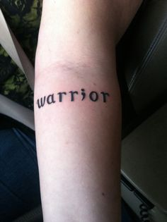 Warrior tattoo / semicolon tattoo, on the inside of my left forearm  I've been through some tough times but I've come out stronger for it