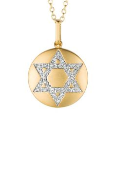 Gift of Gold: Necklace Event    14K Yellow Gold Vermeil & Diamond Star of David Necklace