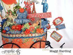 Creative inspiration wagon, Worlds Fair, Maggi Harding, Graphic 45