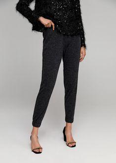Speckled jacquard Textured design Baggy design Elastic waist Elastic hem in back Trousers Women, Pants For Women, Mango France, Mango Fashion, Texture Design, Manga, Elastic Waist, Latest Trends, Cool Outfits