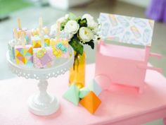 Jillian and Jilleen's Sweet Shoppe Themed Party – Birthday Debut Ideas, Purple Table, Party Needs, Wonderland Party, Sugar Rush, Party Photos, Rice Krispies, Mini Cupcakes, Dessert Table