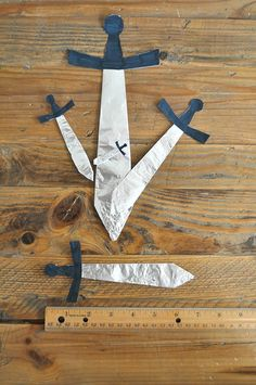 Measuring pirate swords by SortingSprinkles, via Flickr