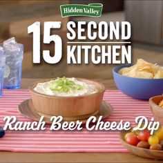 "No matter the score, this beer cheese dip will be a game day winner. Just search ""beer cheese dip"" on hiddenvalley.com to get the recipe."