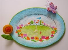 On the way home-Paper mache plate