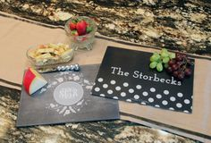 Super cute & personalized cutting boards from Initial Outfitters!  More designs available. $49