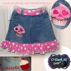 Juniors or Womans Half Denim Apron with by ODark30Designs on Etsy, $28.00