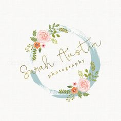 photography logo rose logo design flower by stylemesweetdesign