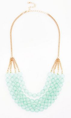 tiered mint necklace http://rstyle.me/n/wp4c6pdpe