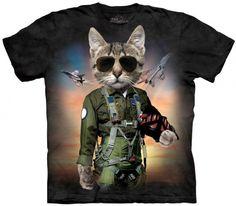 a8a5eba28 THE MOUNTAIN TOM CAT T-SHIRT 3d T Shirts, Funny Tshirts, Printed Shirts