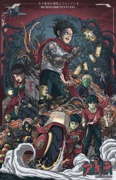 Un joli poster collector pour le film culte AKIRA.