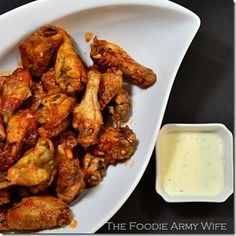 Baked Hot Wings - spicy, but not too spicy