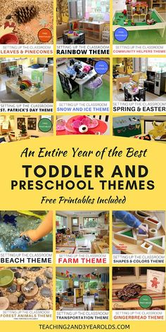 Toddler and Preschool Themes