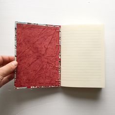 inside of a coptic stitched book by Fineberg Art Studio