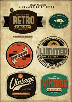 Vintage inspired logo templates