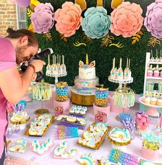 ✨Khloe's Birthday🦄💕✨ Glad to be a part of your magical day 💖 Unicorn Themed Birthday Party, Unicorn Birthday Parties, Birthday Party Decorations, Birthday Party Snacks, 5th Birthday, Birthday Ideas, Birthday Cake, Candy Party, Party Cakes