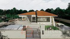 Casa parter 29 | Proiecte de case personalizate | Arhitect Gabriel Georgescu & Echipa Bed Furniture, House Plans, Windows, Doors, Outdoor Decor, Home Decor, Style, Home Plans, Modern Townhouse