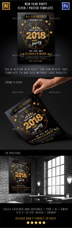 New Year Party Flyer Pinterest Party flyer, Flyer template and - party brochure template
