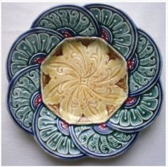 Abstract plate pattern. Majolica. Germanic?