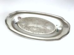 Vintage Dresser Tray, Friedman Silver Co EPC Metal Tray, circa 1940s-1950s