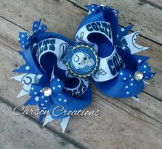 Hey, I found this really awesome Etsy listing at https://www.etsy.com/listing/231136212/indianapolis-colts-bow-colts-hair-bow