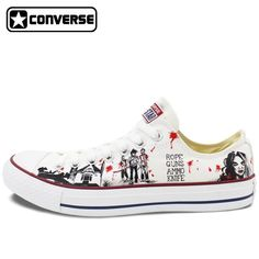 """""""I've never seen anything fly off the virtual shelf like 2017 Low Top Conv... . anyone with taste & sense can"""" http://delyricdeals.com/products/2017-low-top-converse-all-star-men-womens-shoes-custom-design-walking-dead-hand-painted-canvas-sneakers-skateboarding-shoes?utm_campaign=social_autopilot&utm_source=pin&utm_medium=pin"""