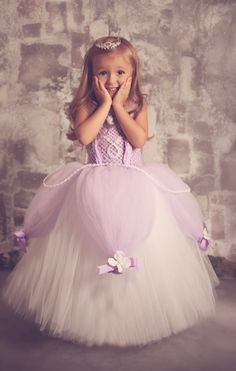 Buy Princess Sofia the first baby Birthday Party Dress. Shop Sofia the first royal tutu costume dress Up for baby to toddler girl. Tutu Diy, No Sew Tutu, Diy Tutu Skirt, Tutu Skirts, Costumes Avec Tutu, Diy Costumes, Disney Tutu Costumes, Costume Ideas, Flower Girls