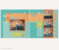 #CTMH #Blossom #Scrapbook Layout This paper (X7196B) $9.95 can be found on my website: www.LaurenKelly.c...