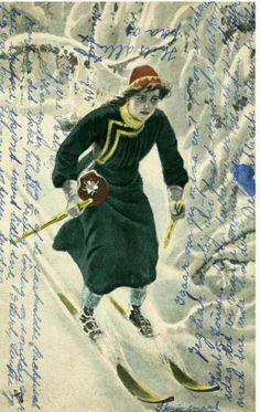 Kartongkort Andreas Bloch brukt 1905