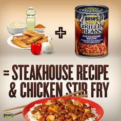 Love this BUSH'S® Beans recipe--can't wait to make Steakhouse Stir Fry tonight!